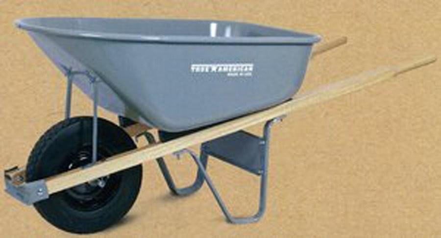 True Temper - Flat Free Steel or Poly Wheelbarrow