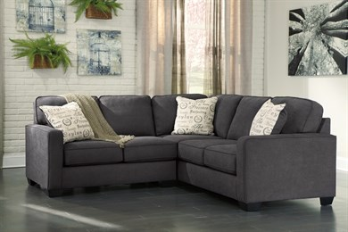 Alenya Upholstered 2PC Sectional Charcoal