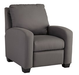 Nuvella Upholstered Low Leg Recliner Gray