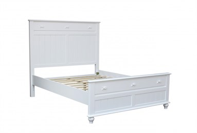 Fishtails Queen Panel Bed White