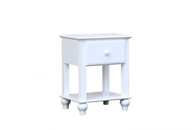 Abacoa One Drawer Nightstand White