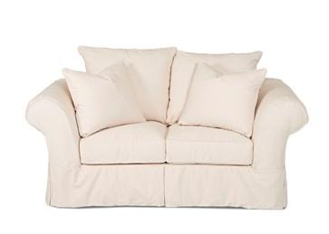 Charleston Upholstered Slip Cover Loveseat