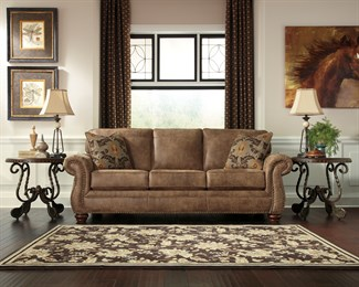 Larkinhurst Uphostered Sofa Brown