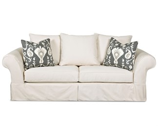 Charleston Upholstered Slip Cover Sofa
