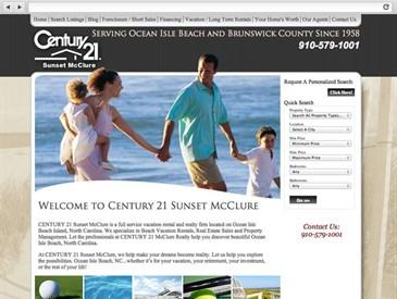 Sunset McClure Real Estate Web Design