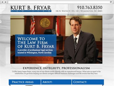 Fryar Law Firm NC - Web Design