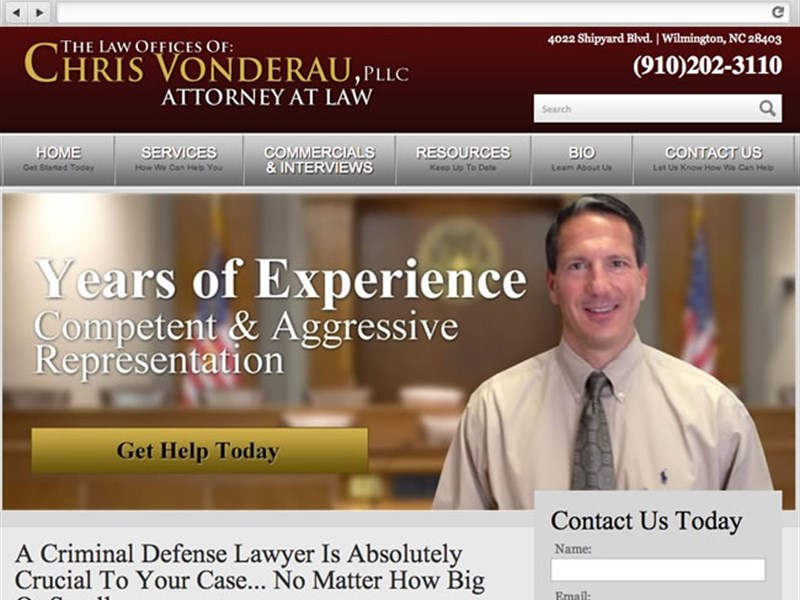 Chris Legal - Lawyer Web Design