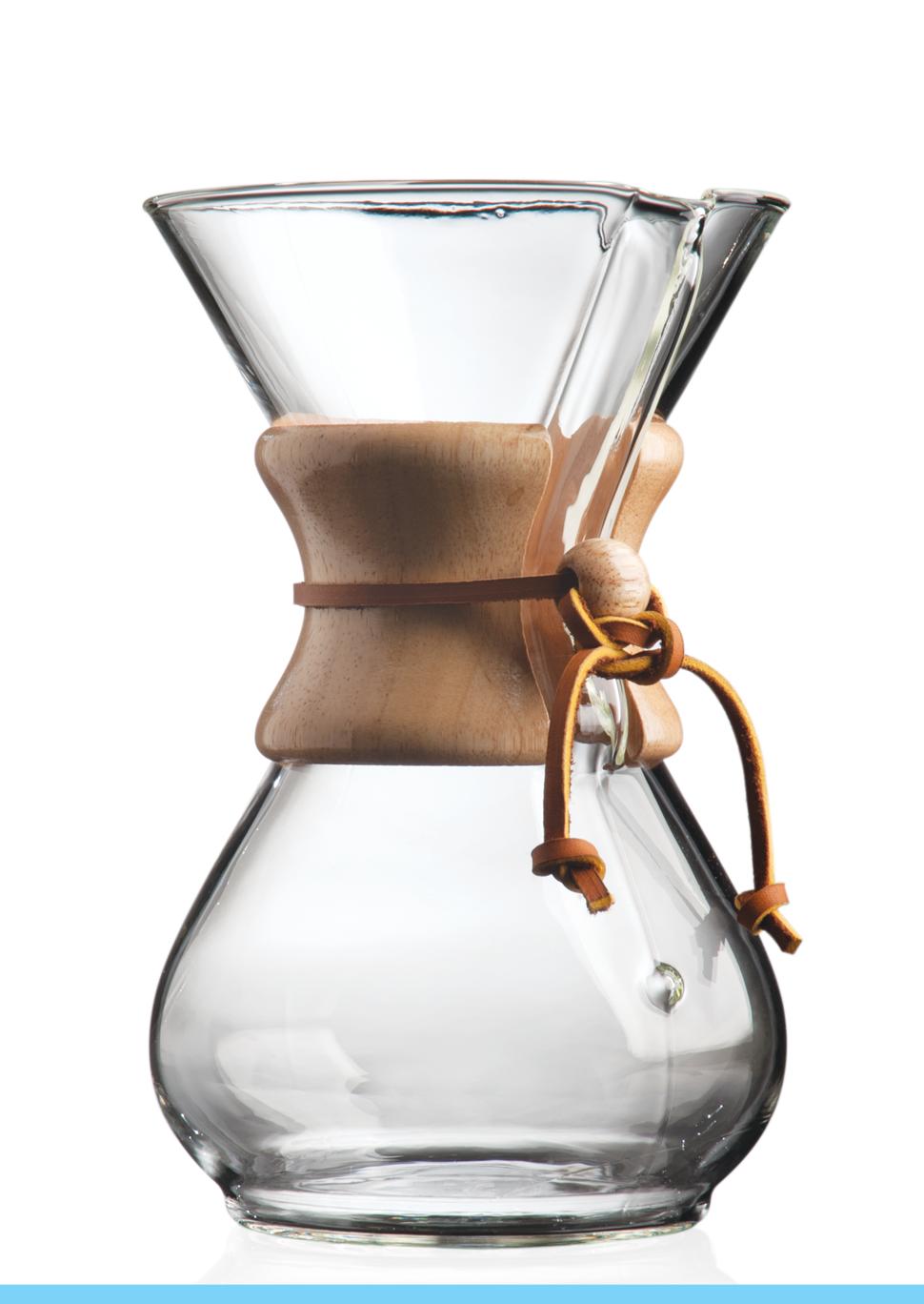 Carolina Coffee Chemex® 6-Cup Coffeemaker With Wood Collar and Tie