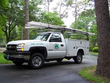 One of Landscapes Unlimited service trucks