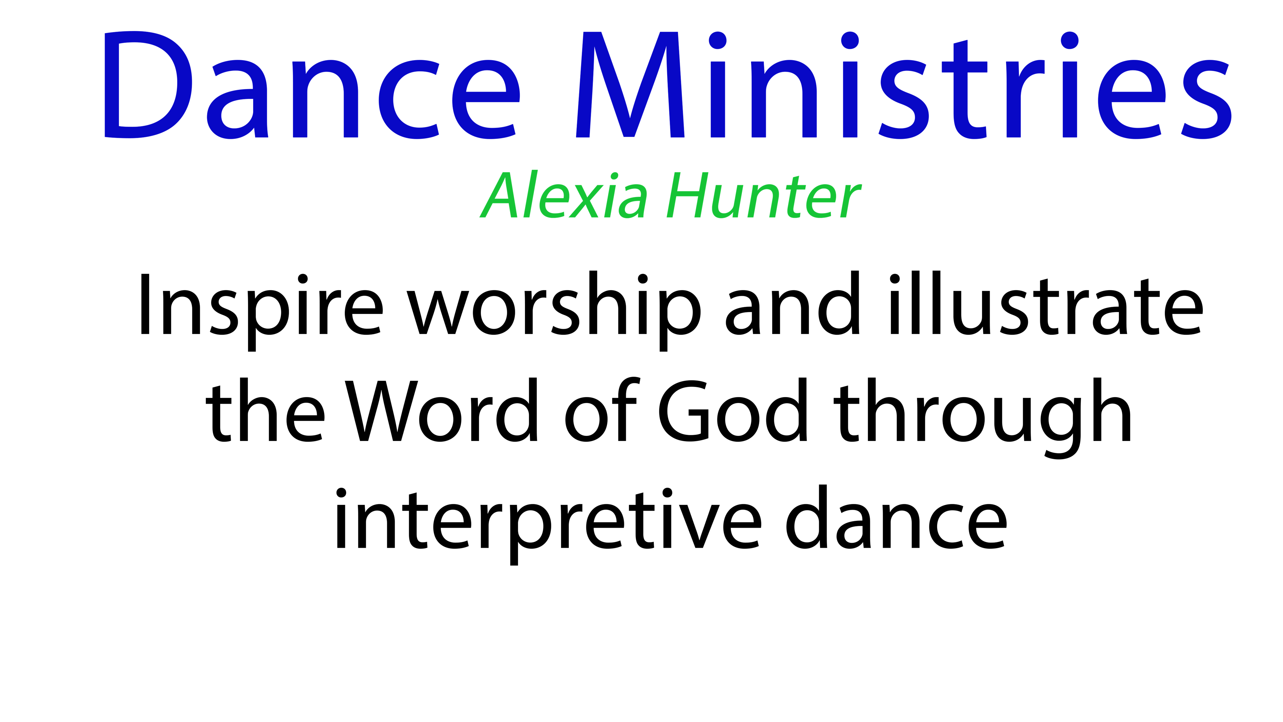 Dance Ministries