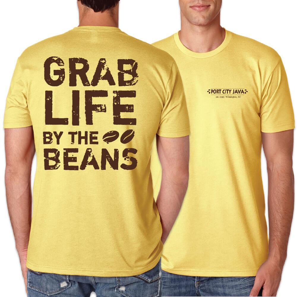 Grab Life by the Beans Shirt - Banana