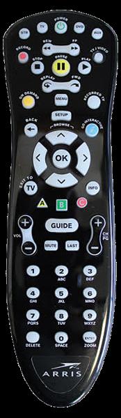 Arris MXv4 Remote Control