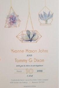 Yvonne Johns & Tommy Dixon