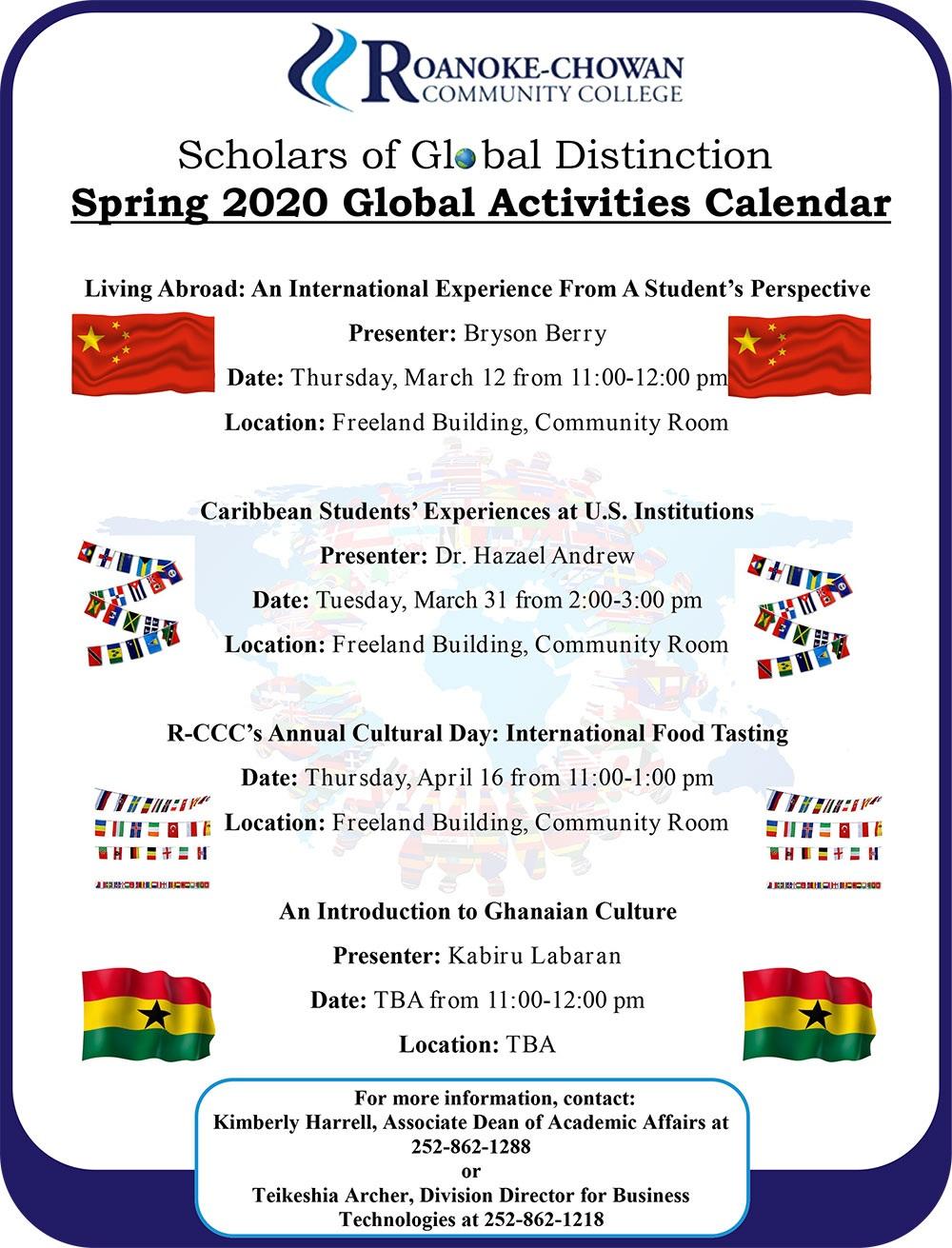 Global Activities Spring 2020