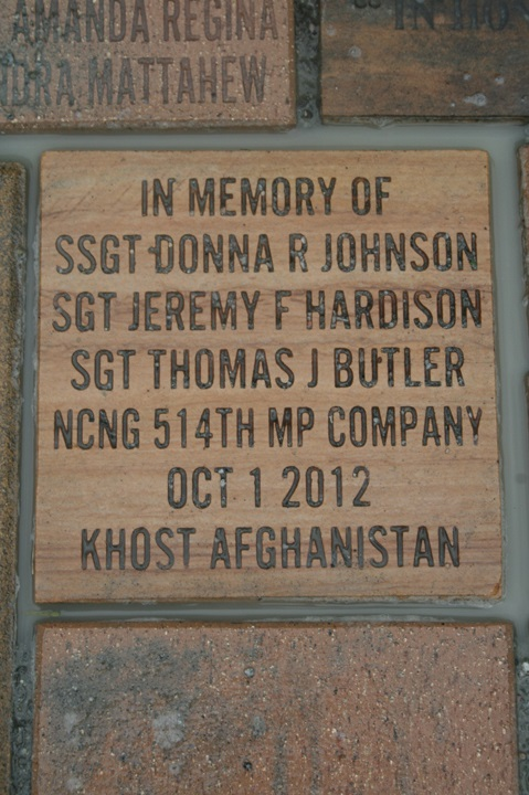 Sgt Butler Brick Laying Ceremony