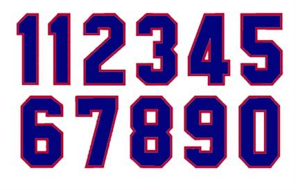 1 color Die Cut Number Decals