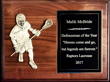 BVD912 - 9 X 12 Defensive Player Plaque