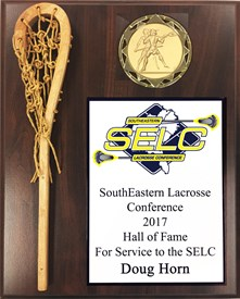 WSPVC1013 - Full Color Plate Wood Stick Lacrosse Plaque