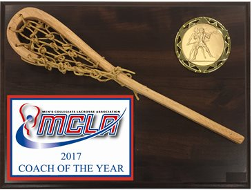 WSP912C - Full Color Logo Wood Stick Lacrosse Plaque