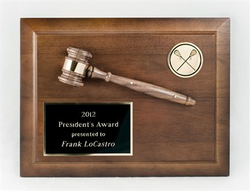 GA912 - Gavel Plaque