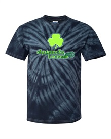 Shamrocks Black Tie Dye Cotton T-shirt Order due by Monday, October 12, 2020