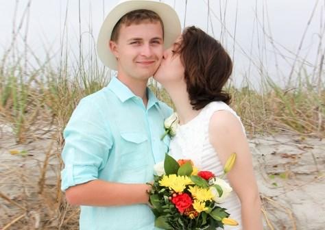 newlywed couple