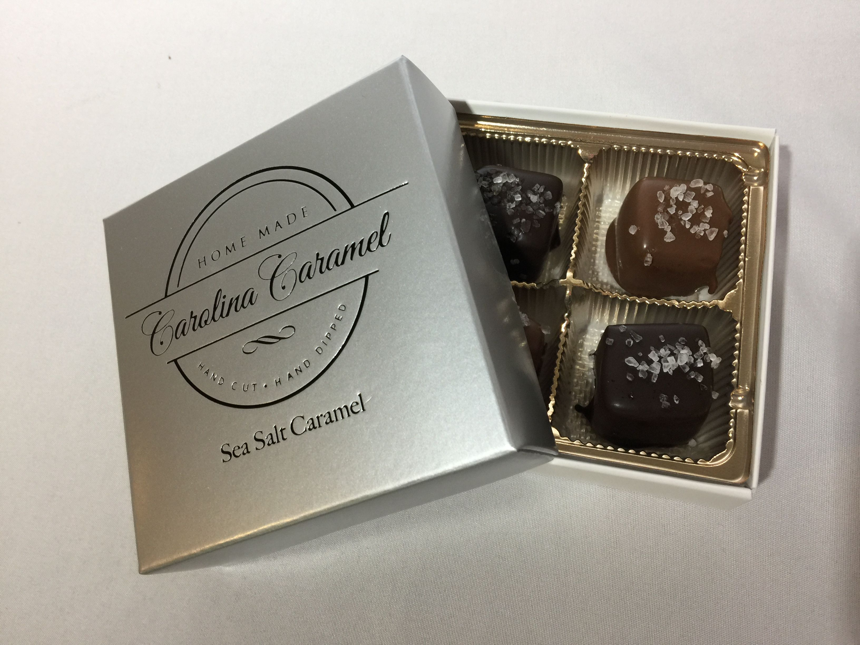 Carolina Coffee Sea Salt Caramels - 8 Piece Box