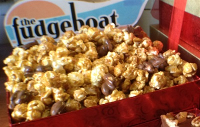 Gourmet Caramel Corn with Chocolate Dipped Nuts