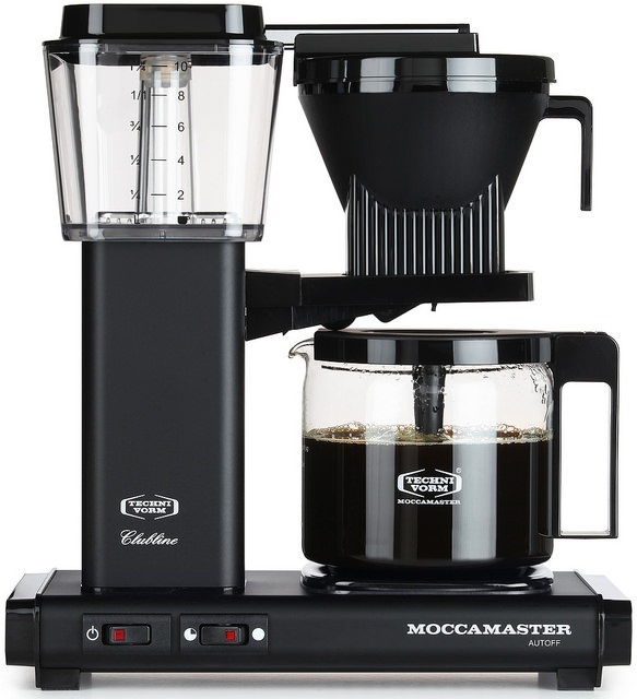 Carolina Coffee Technivorm Moccamaster KBG Automatic Drip Stop Coffee Maker with Glass Carafe - Matte Black