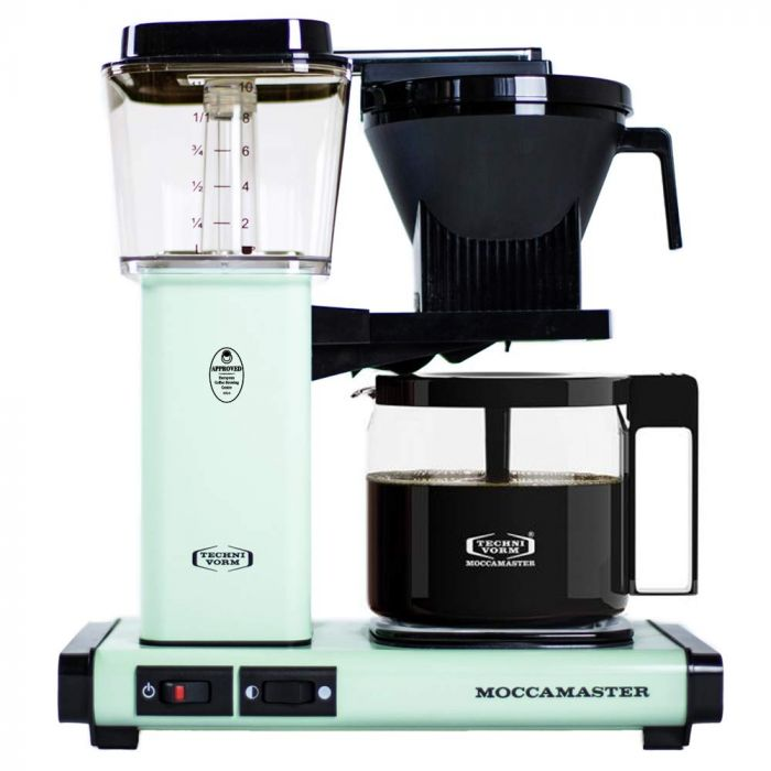 Carolina Coffee Technivorm Moccamaster KGB Automatic Drip Stop Coffee Maker With Glass Carafe - Pistachio