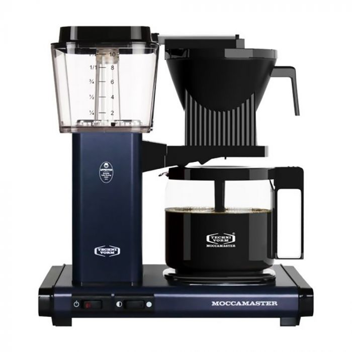 Carolina Coffee Technivorm Moccamaster KBGV Select Automatic Drip Stop Coffee Maker with Glass Carafe - Midnight Blue